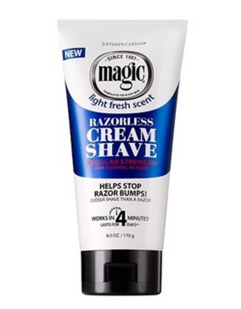 MAGIC Razorless Cream Shave - Regular Strength 6 oz