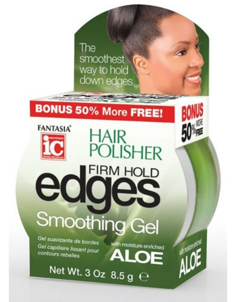 FANTASIA IC Hair Polisher Firm Hold Edges Smoothing Gel 3 oz