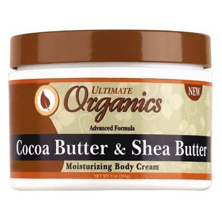 ULTIMATE ORGANICS Cocoa Butter & Shea Butter Body Cream 8 oz