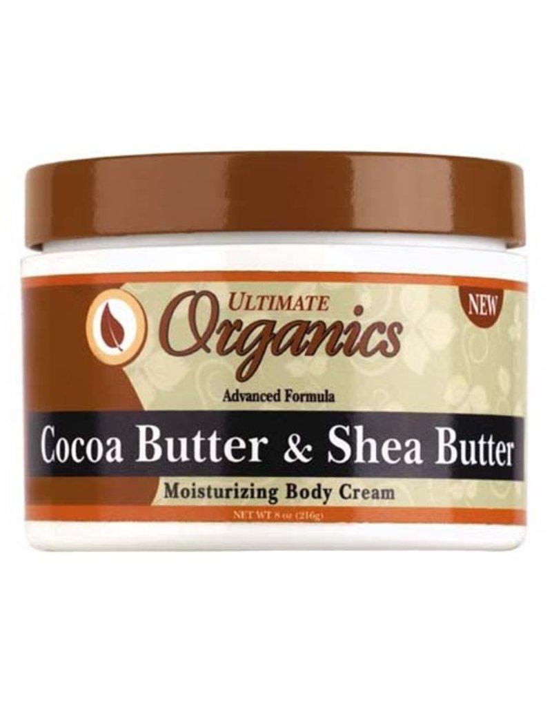 ULTIMATE ORGANICS Cocoa Butter & Shea Butter Body Cream 8 oz