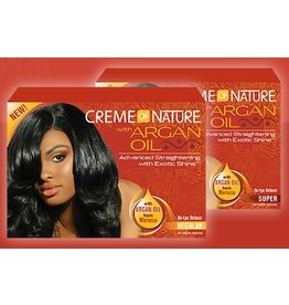 CREME OF NATURE - ARGAN OIL No-Lye Relaxer - Regular