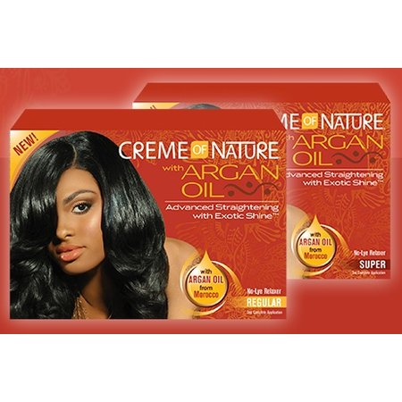 CREME OF NATURE - ARGAN OIL No-Lye Relaxer - Super