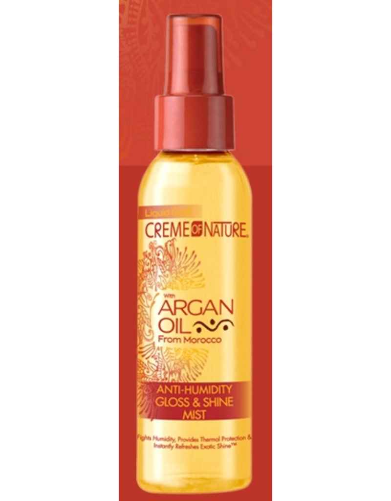 CREME OF NATURE - ARGAN OIL Anti-Humidity Gloss & Shine Mist 4 oz