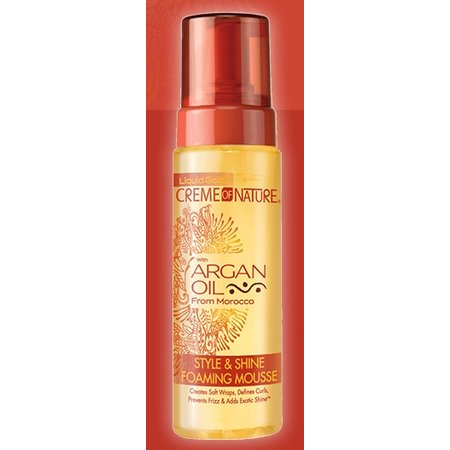CREME OF NATURE - ARGAN OIL Style & Shine Foaming Mousse 207 ml.
