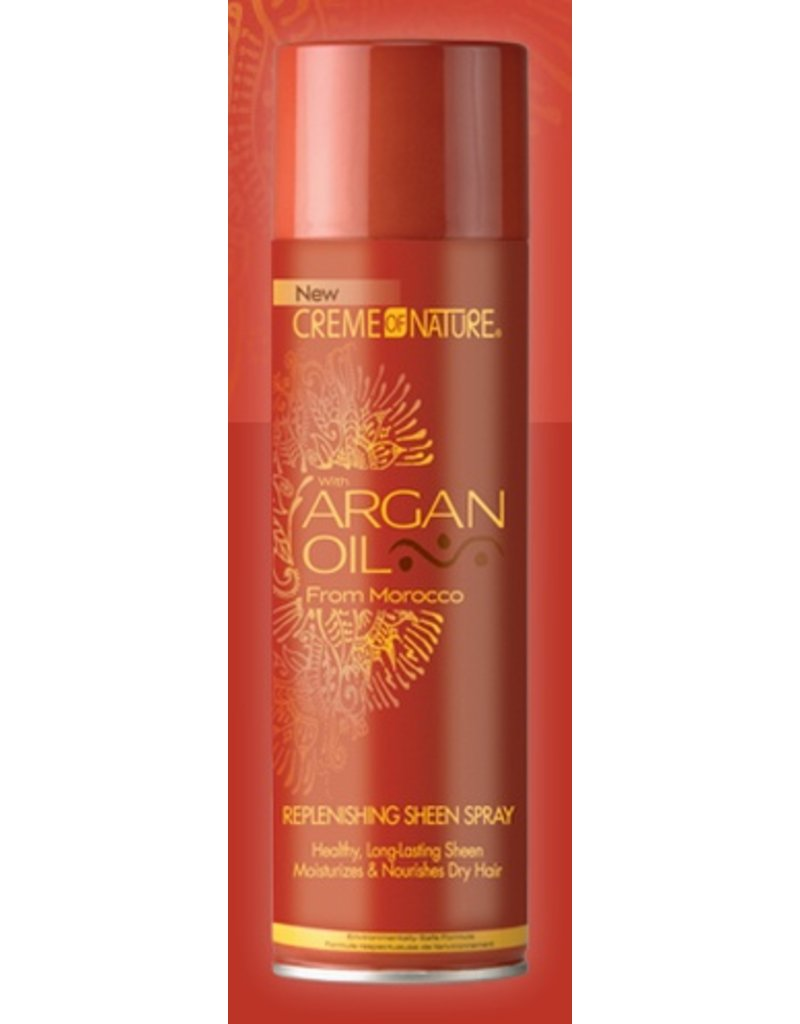 CREME OF NATURE - ARGAN OIL Replenishing Sheen Spray 11.25 oz