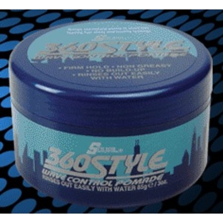 S-CURL 360 Style Wave Control Pomade 3 oz