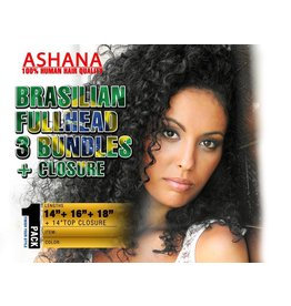 ASHANA HAIR Ashana Hair - Bundle Fullhead + Closure (Brasilian)