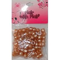 Kralen (100 stuks) - caramel bruin