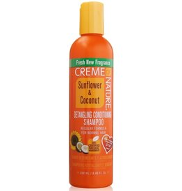 CREME OF NATURE Detangling & Conditioning Shampoo Sunflower & Coconut 8.45 oz