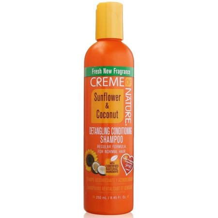 CREME OF NATURE Detangling & Conditioning Shampoo Sunflower & Coconut 8.45 oz