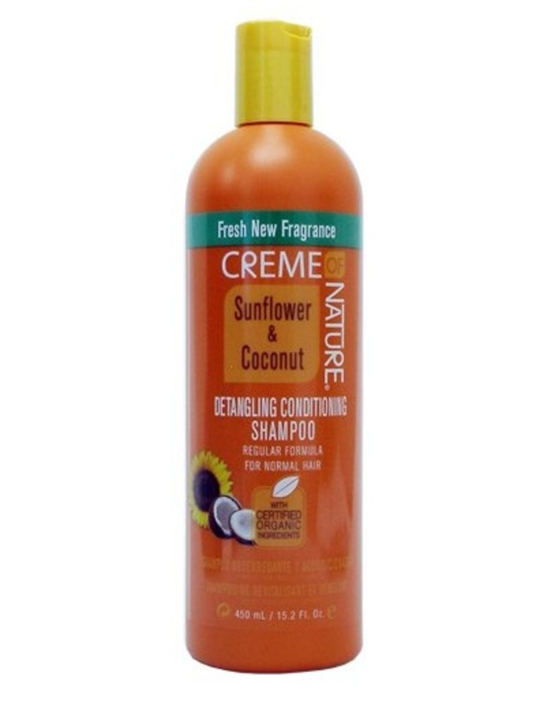 CREME OF NATURE Detangling & Conditioning Shampoo Sunflower & Coconut 15.2 oz