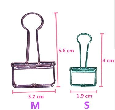 Binder clip div. kleuren M 5,6 x 3,5cm