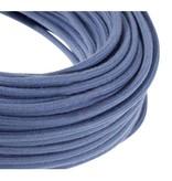 Stoffen snoer rond  grijs blauw katoen - 3x 0,75