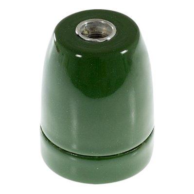 Porseleinen fitting Groen - E27