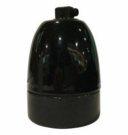 Fitting E40 - zwart porselein