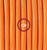 Stoffen snoer oranje - rond 3 aders