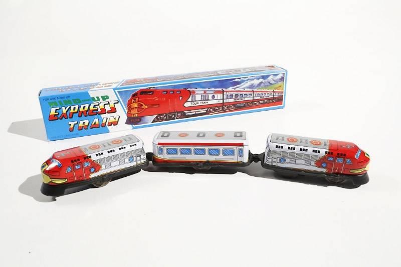Opwindbaar treintje - 3 wagons