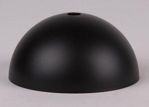 Plafondkap metaal zwart mat