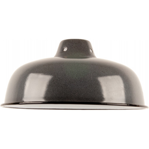 Emaille lamp grey - 25,5cm