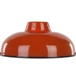 Emaille lamp orange - 25,5cm
