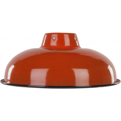 Emaille lamp orange - 25,5cm