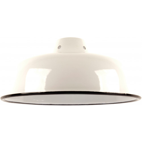 Emaille lamp white - 25,5cm