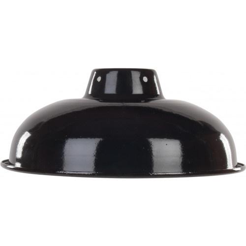 Emaille lamp black - 25,5cm