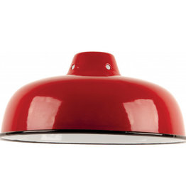 Emaille lamp red - 25,5cm