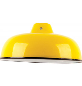 Emaille lamp yellow - 25,5cm