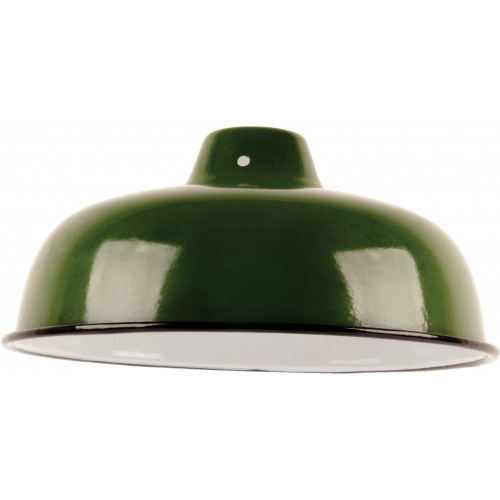 Emaille lamp green - 25,5cm