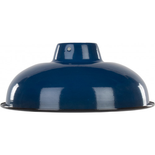Emaille lamp royal blue - 25,5cm