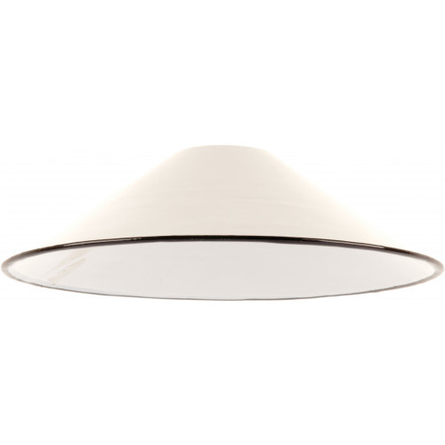 Emaille lamp white - 21cm