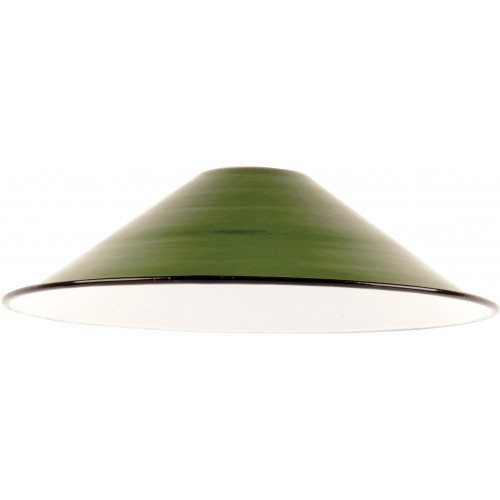 Emaille lamp green - 21cm