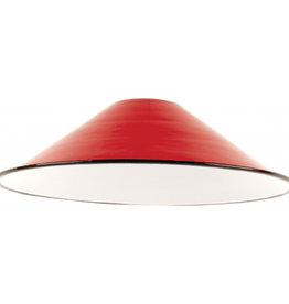 Emaille lamp red - 21cm