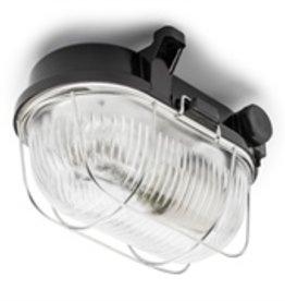 Kelderlamp ovaal bakeliet S