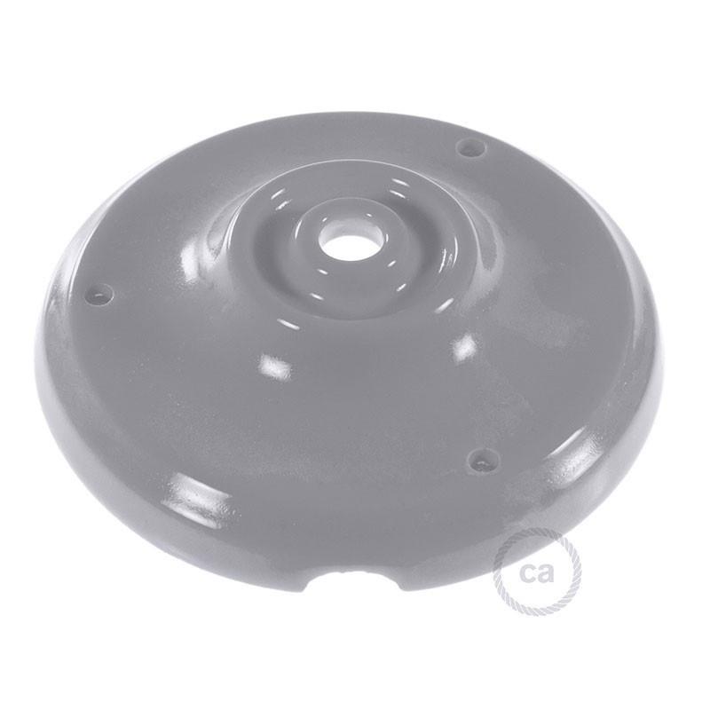 Porselein plafondplaat grey