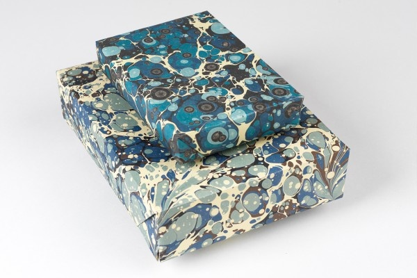 Gift wrap marbled paper designs