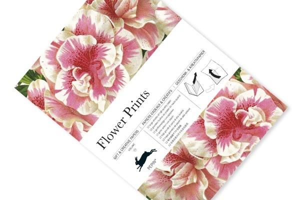 Gift wrap flower prints