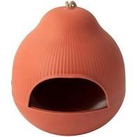 Vogelvoeder huisje rood/oranje