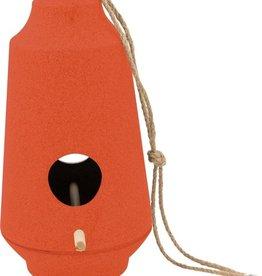 Vogelvoeder huisje Oranje/rood 15.1 x 28