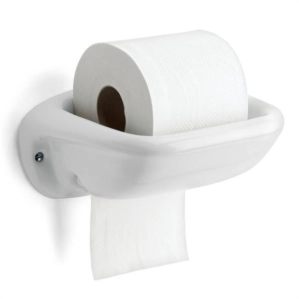 Porseleinen wc rolhouder