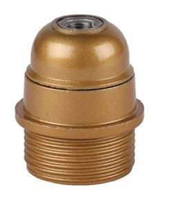 Fitting goud bakeliet E27 flens halfhoog