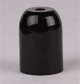 Kap voor E27 fitting metaal zwart