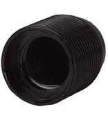 Fitting zwart bakeliet E27 buitendraad