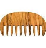 Redecker Kam olijfhout afro 9cm