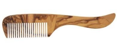 Redecker Kam met handvat olijfhout-  21cm