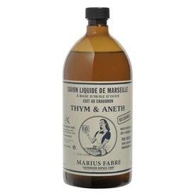 Savon de Provence Savon liquide - thym et aneth - 1 liter