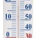 Thermometer op wandplaat 90cm