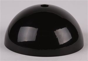 Plafondkap metaal zwart glans