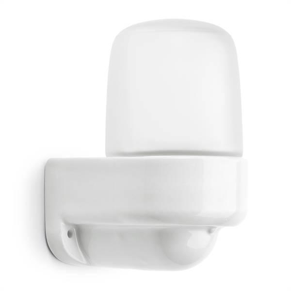 Wandlamp haaks met mat glas (sauna)